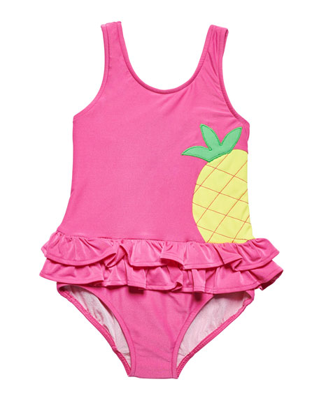 Florence Eiseman One-Piece Pineapple Swimsuit, Size 2-6X