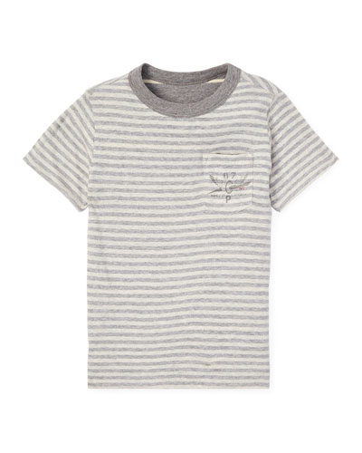 Striped Reversible Short-Sleeve Tee, Size 5-7