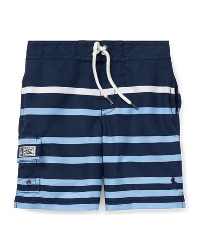 Kailua Striped Swim Trunks  Size 5-7