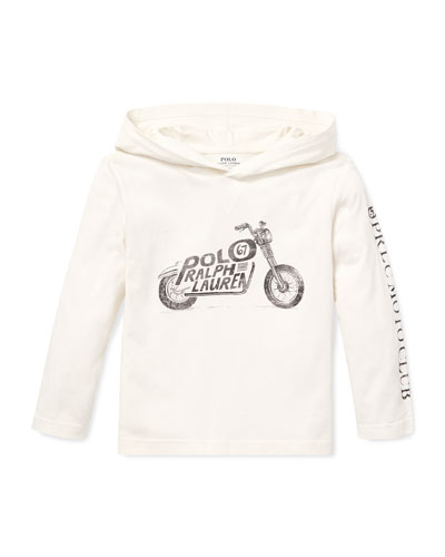 Logo Motorcycle Hooded Top  2-4