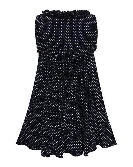 Tiny Dots Empire Ruffle-Trim Dress, Size 7-14