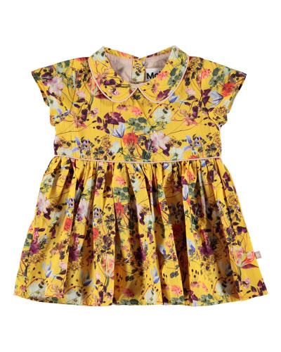 Cinna Woven Collared Floral Dress, Size 6-24 Months