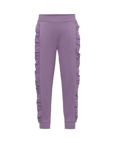 Aline Ruffle-Trim Sweatpants, Size 4-12
