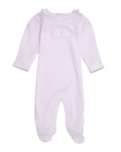 Bunny Hop Pique Footie Playsuit  Size Newborn-9 Months