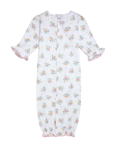 Petite Pansies Pima Convertible Gown  Size Newborn-S