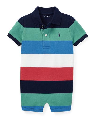 Colorblock Polo Playsuit  Size 3-18 Months