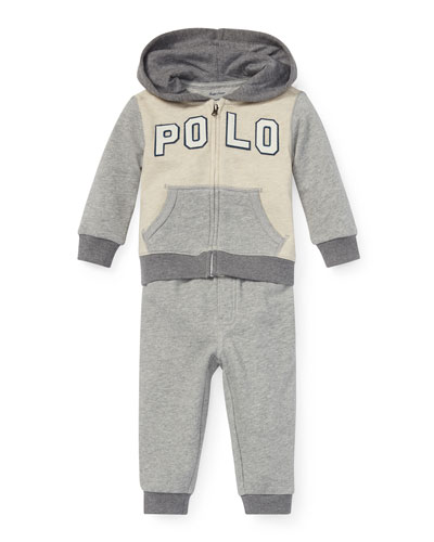 Colorblock Zip-Up Jacket w/ Matching Sweatpants  Size 6-24 Months