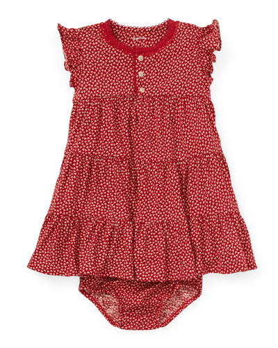 Tiered Floral Knit Dress w/ Bloomers  Size 6-24 Months