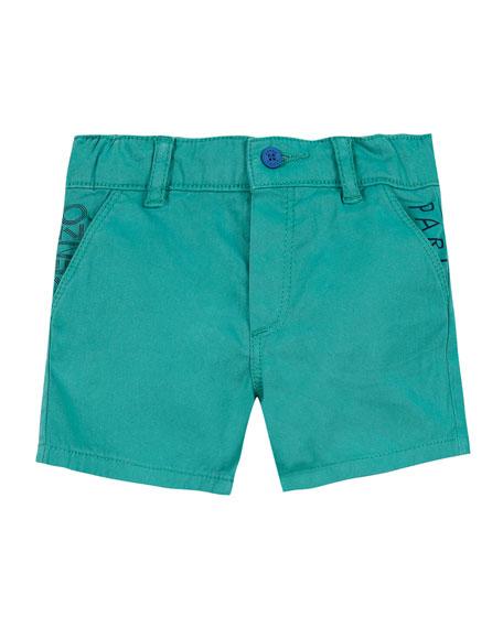 Kenzo Colored Logo-Pockets Bermuda Shorts, Size 12-18 Months