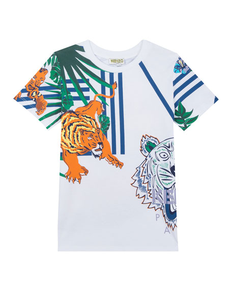 Kenzo Multi-Icon Graphic T-Shirt, Size 2-4