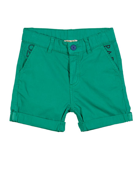 Kenzo Colored Logo Bermuda Shorts, Size 2-4