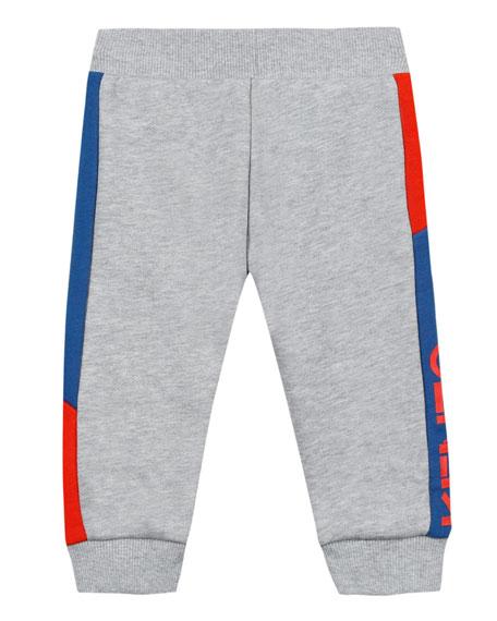 Fleece Colorblock-Sides Jogger Pants, Size 12-18 Months