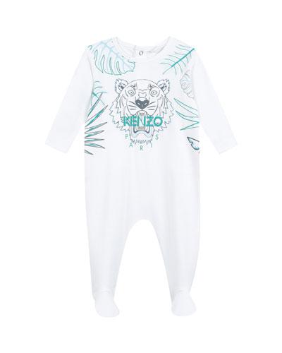 Botanical Tiger Footie Pajamas  Size 3-9 Months