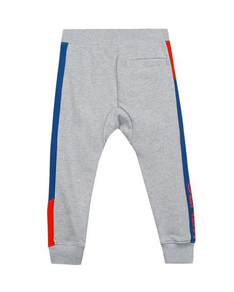 Fleece Colorblock-Sides Jogger Pants, Size 2-4