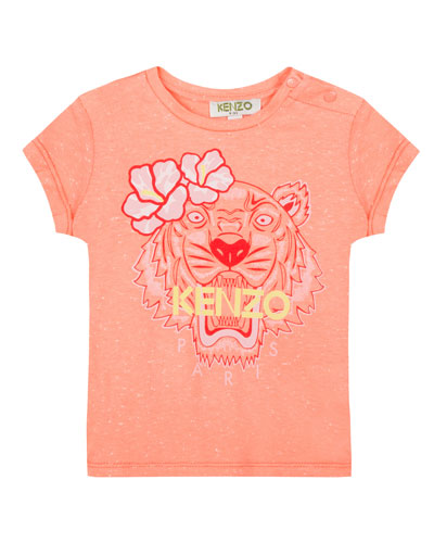 Floral Tiger Graphic T-Shirt  Size 5-6