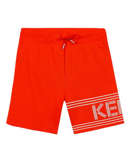 Kenzo Fleece Logo Bermuda Shorts, Size 5-6