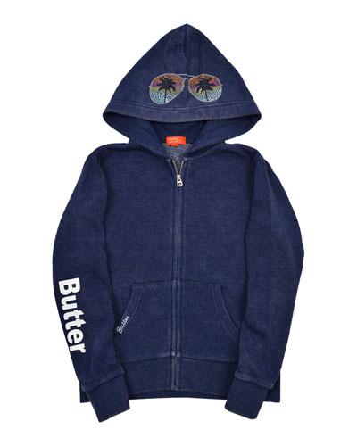 Vacay Studded Zip-Up Jacket  Size 4-6