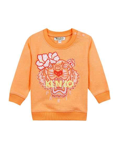 Kenzo Floral Tiger Embroidered Sweatshirt, Size 12-18 Months