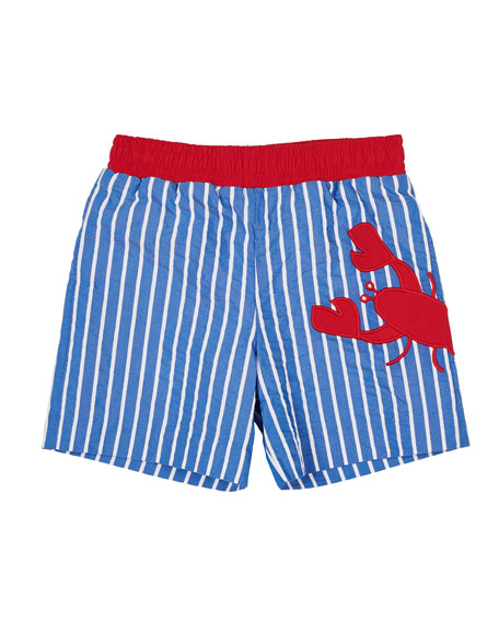 Florence Eiseman Striped Lobster Swim Trunks, Size 6-24