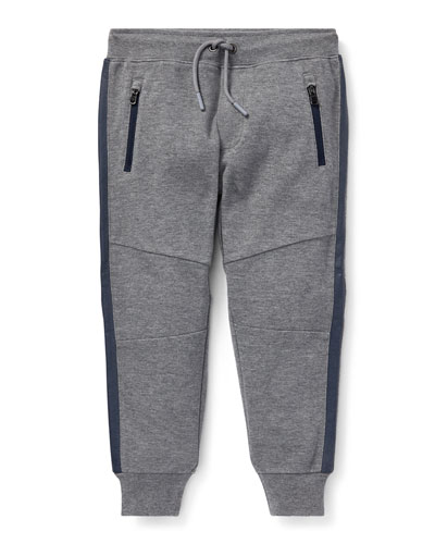 Contrast-Sides Jogger Pants, Size 5-7