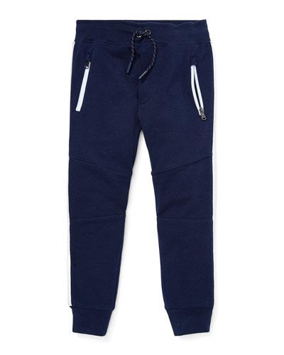 Contrast-Sides Jogger Pants  Size 2-4