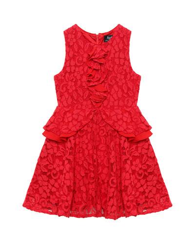 Primrose Lace & Ruffle Dress, Size 8-16