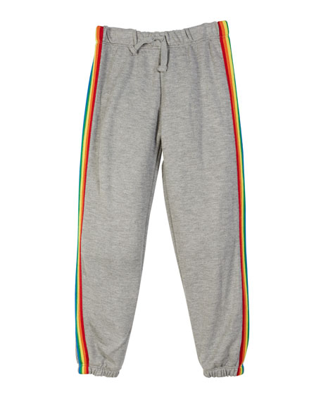 Flowers By Zoe Drawstring Sweatpants w/ Rainbow Taping,