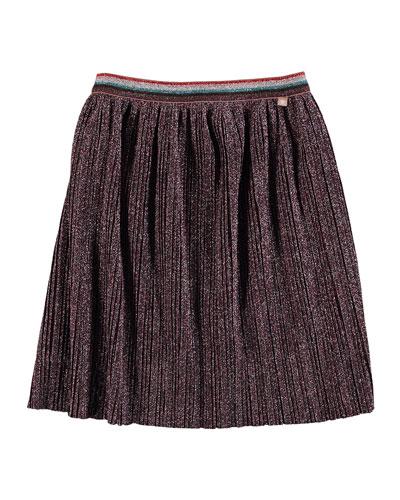 Bailini Pleated Lurex Skirt  Size 3T-14