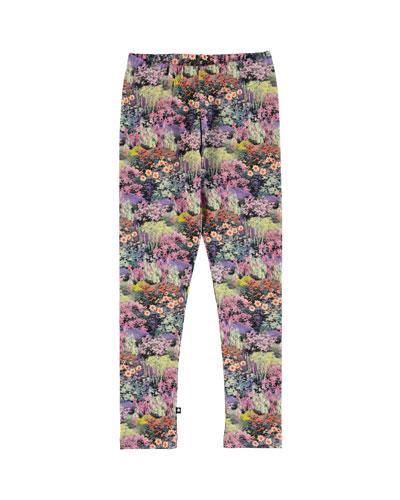 Niki Floral Print Leggings  Size 2-12