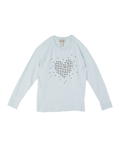Studded Heart Raglan Top  Size 8-16