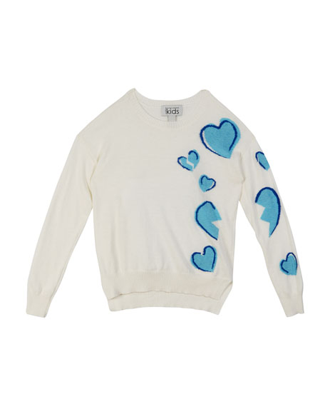 Broken Hearts Knit High-Low Top, Size 8-16