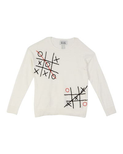 Tic Tac Toe Embroidered Top  Size 8-16