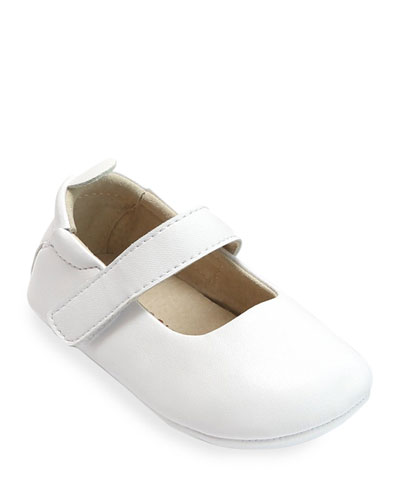 Charlotte Leather Mary Jane Crib Shoes  Baby