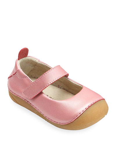Emily Metallic Leather Classic Mary Jane  Baby