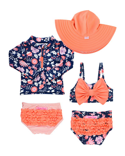 Botanical Beach 5-Piece Swim Layette Set  Size 2-10