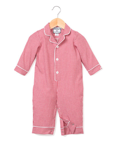 Mini Gingham Coverall  Size 0-24 Months