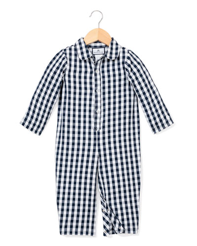 Gingham Coverall  Size 0-24 Months
