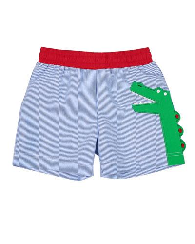 Alligator Lined Seersucker Shorts  Size 6-24 Months