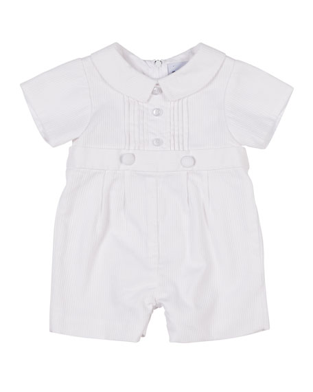 Florence Eiseman Tucked-Front Playsuit, Size 3-24 Months