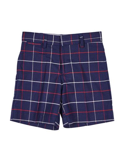 Plaid Bermuda Shorts  Size 2-4T