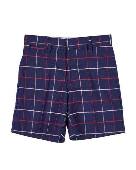 Florence Eiseman Plaid Bermuda Shorts, Size 2-4T
