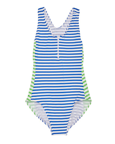 Stripe Y-Back One-Piece Swimsuit  Size 7-14