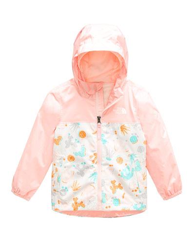 Zipline Printed Rain Jacket  Size 2-4T