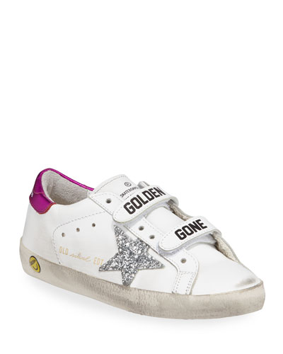 Old School Leather Grip-Strap Sneakers  Toddler/Kids