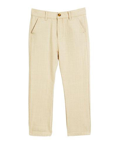 Linen-Blend Beach Pants  Size 2-14