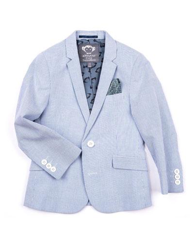 Striped Cotton Blazer Jacket  Size 2-14