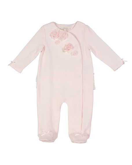 Miniclasix Footed Coverall w/ Rosettes & Ruffles, Size