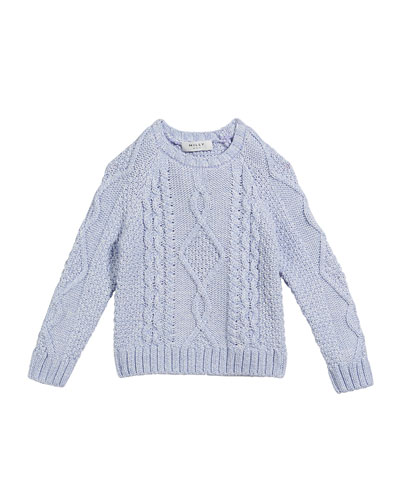 Aran Cable-Knit Pullover Sweater  Size 7-16