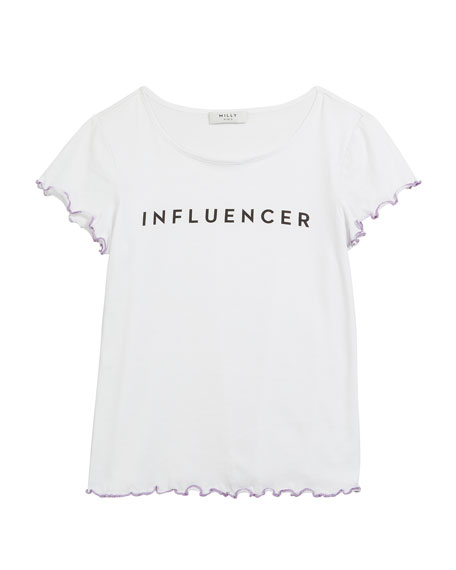 Influencer Graphic Lettuce-Edge Tee, Size 4-6