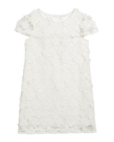 Chloe 3D Floral Applique Dress  Size 7-16